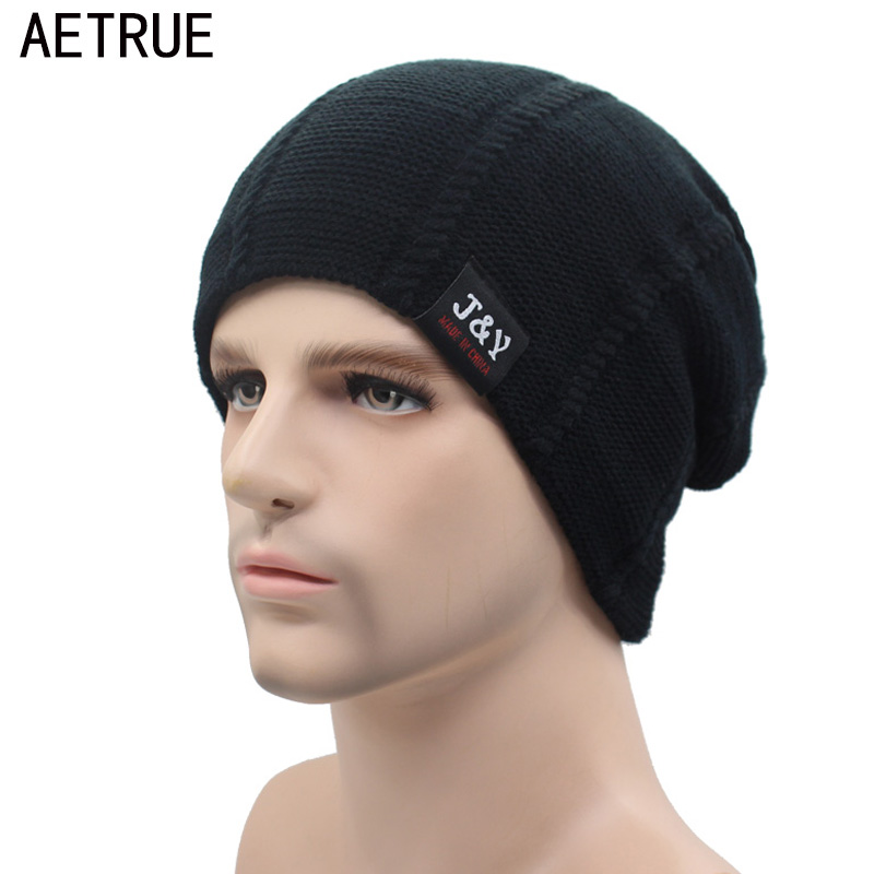 AETRUE Beanie Knit Winter Hat Skullies Beanies Men Caps Warm Baggy Mask New Fashion Brand Winter Hats For Men Women Knitted Hat skullies