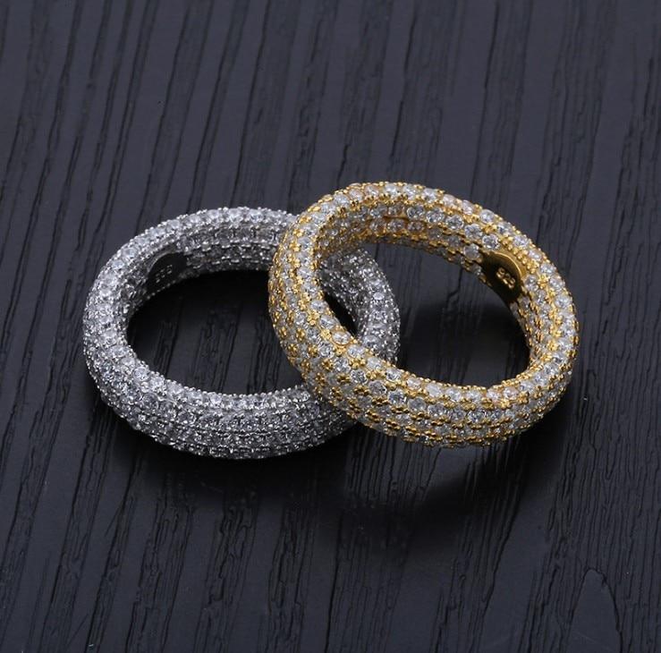 2019 bijoux en céramique bague en cristal de Swarovski personnalité noire et blanche une rangée incrustée de bijoux en zircon pour les amoureux