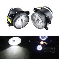 Widely Use Led Fog Light Assembly W/ White Guide DRL Halo Rings For Dodge Charger Joureny For Jeep Grand Cherokee For Wrangler