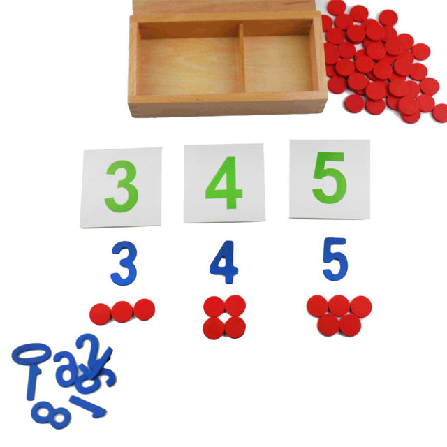 Wooden Early Educational Montessori Math Toy Chips Game Digital Montessori Brinquedo Educativo Learning Toys For Children SB866T