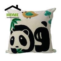 Быть дома высокого качества 3D хлопок Наволочка Мультфильм Чехлы китайский панда сова