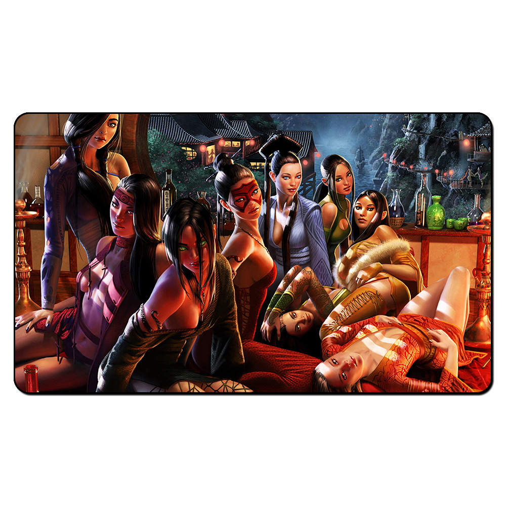 (Legend of The Five Rings Scorpion) Magic Game Playmat,Board Games Helvault MGT Play Mat,Custom Big Mousepad with Free Bag