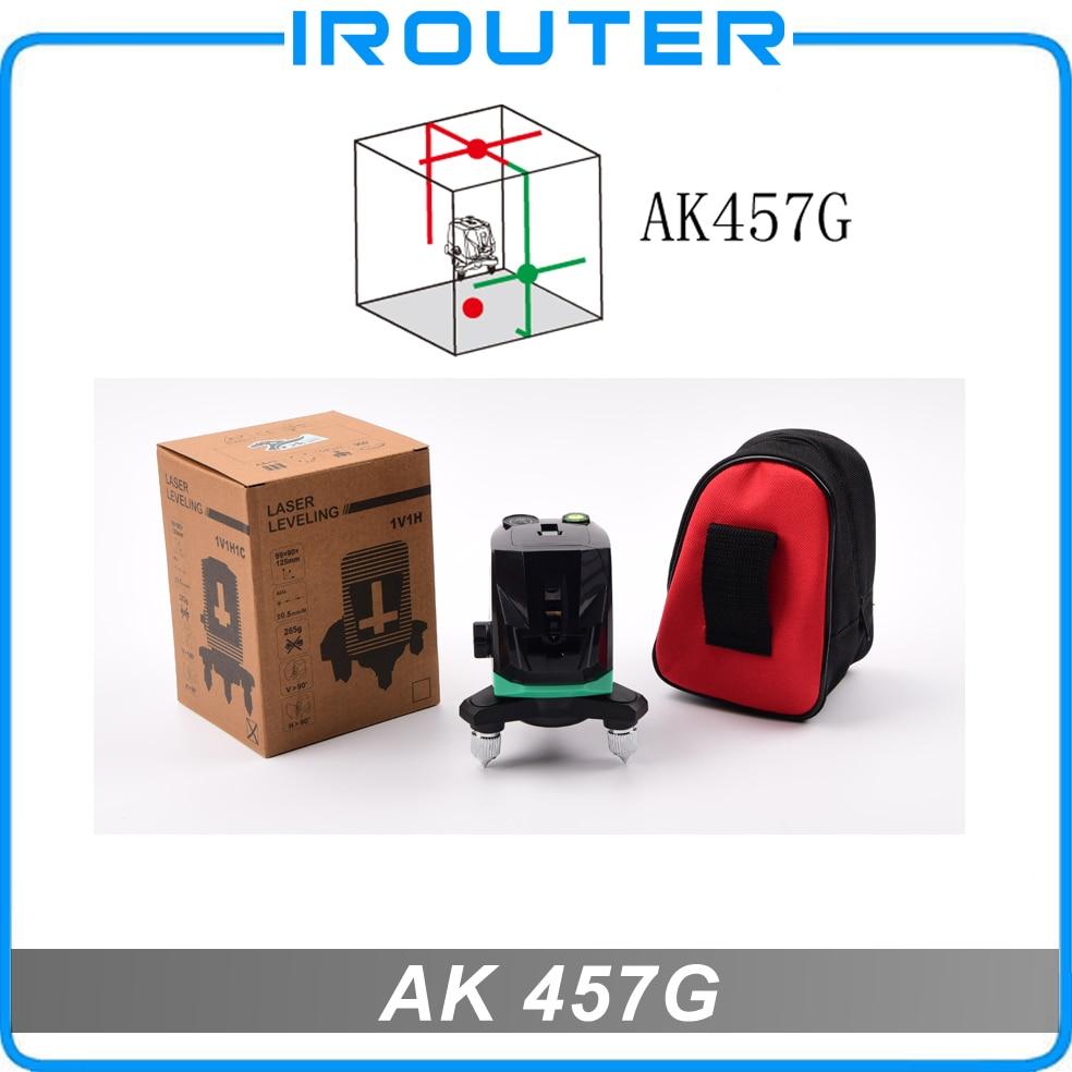 ACULINE 2017 New model , AK457G laser level, 2 red lines and 2 green lines , red and green ray level , 4 lines laser level spinderella level 2
