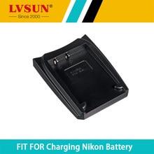 Lvsun enel8 en-el8 nl el8 oplaadbare batterij adapter plaat case voor nikon coolpix s5 s6 s7 p1 p2 s1 s2 s3 batterijen Charger