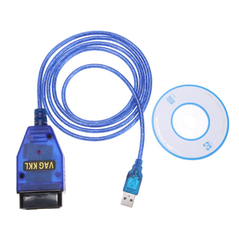 VAG COM 409.1 OBD2 USB KKL Cable W Diagnostic Scanner CD Software Windows 98SE ME 2000 NT XP For Volkswagen Audi skoda