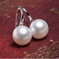 Free shipping top quality Fashion silver plated Earring  beads Studearrings For Women Jewelry Simulated pearl earrings