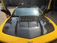 Car Accessories Carbon Fiber & FRP Fiber Glass ZL1 Style Hood Bonnet Fit For 2010 2014 Camaro Hood Cover Car styling