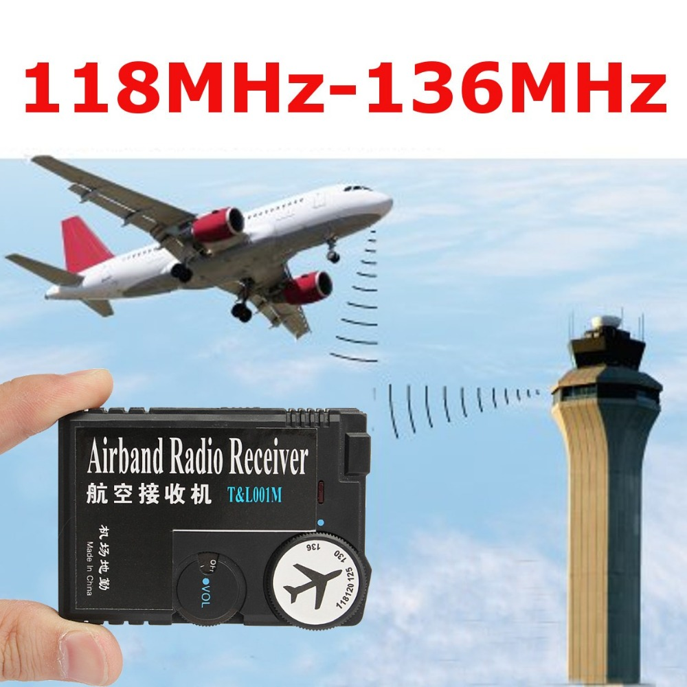 T&L001 118MHz-136MHz AAA Air Band Radio Receiver Airband Radio Receiver Aviation Band Receiver For Airport Ground