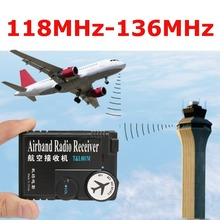 T&L001 118MHz 136MHz AAA Air Band Radio Receiver Airband Radio Receiver Aviation Band Receiver For Airport Ground