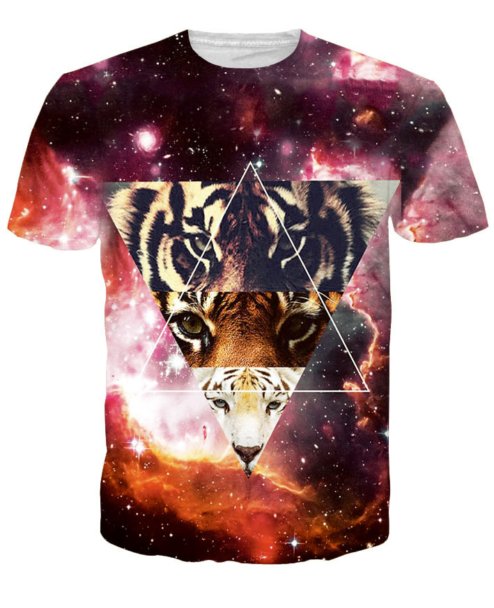 Hot Europe and America Fashion Tigger HD Creative Printing 3D T-Shirt Men/Women Summer Funny Printed T-shirt Tops