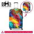 Colorida Pintura Anti-polvo Elástico Stretch Cubierta Protectora para el Equipaje de Viaje Para 18-30 Pulgadas Maleta Trolley Case Durable cubierta