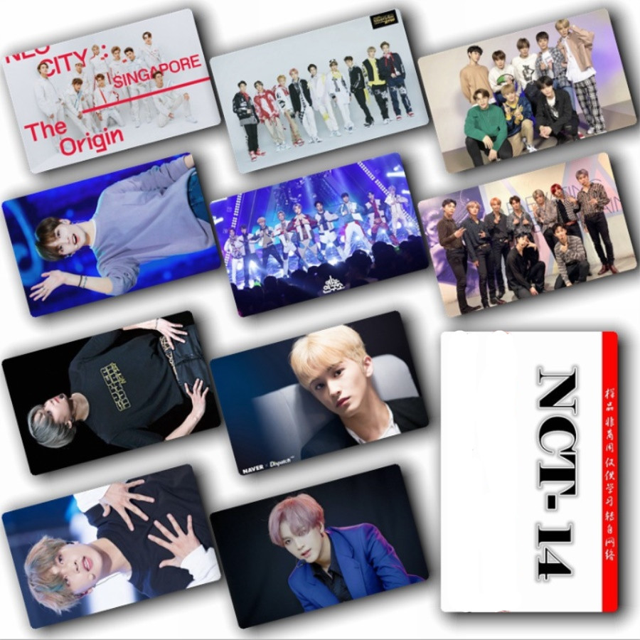 KPOP NCT Photo Card Stickers Yuta Sticky Crystal Photo Card Concert Albums Taeyong Mark HD Photograph 10pcs/Set