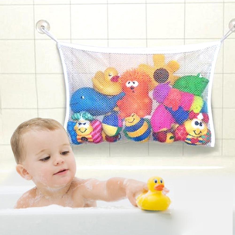 Low Cost Folding Baby Bathroom Hanging Mesh Bath Toy Storage Bag Net ...