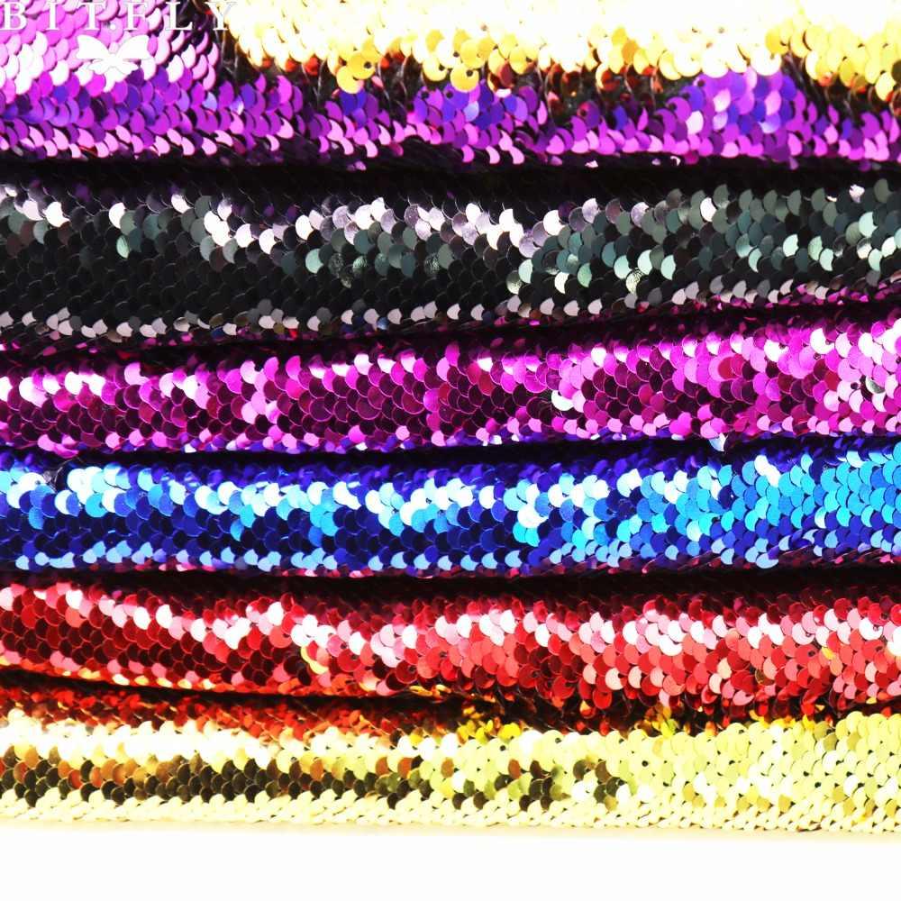 130x50 см обратимая Русалка рыбные весы Блестки Ткань блестящие пайетки ткань для платья Бикини материал для вышивания DIY украшения