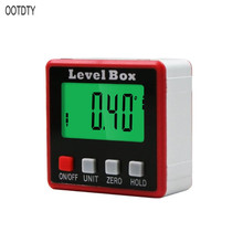 OOTDTY Digital Protractor Inclinometer Level Box Angle Finder Bevel w/ Magnet Base