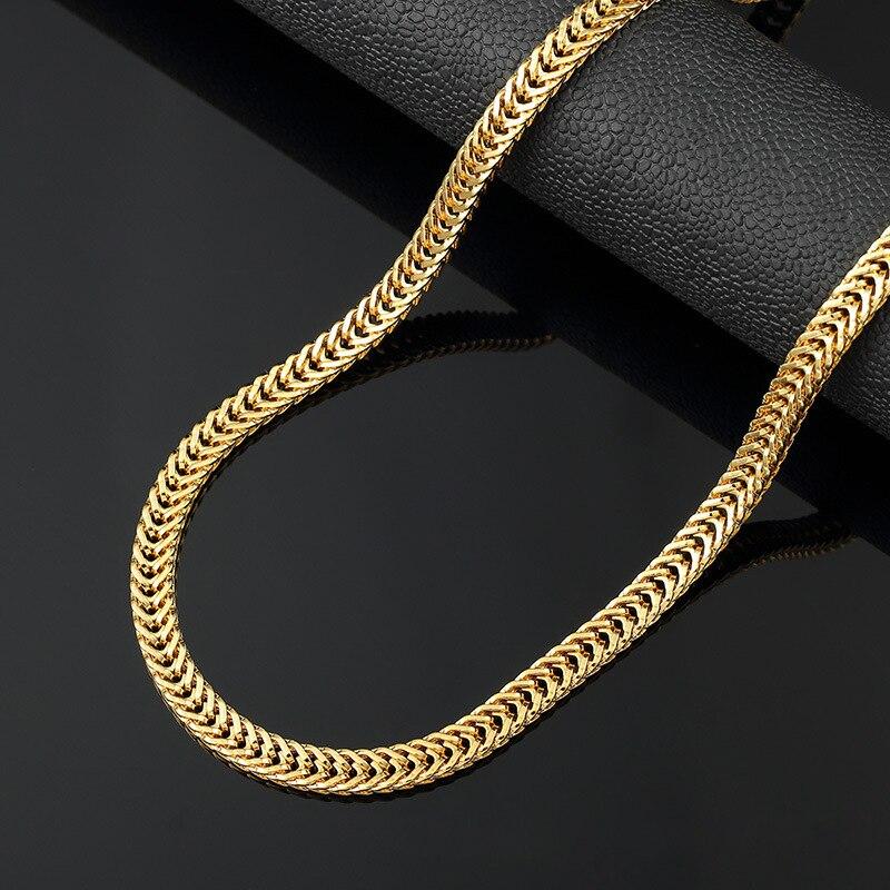 Hip hop goldkette  Online Kaufen Großhandel dicken gold panzerkette halskette aus ...