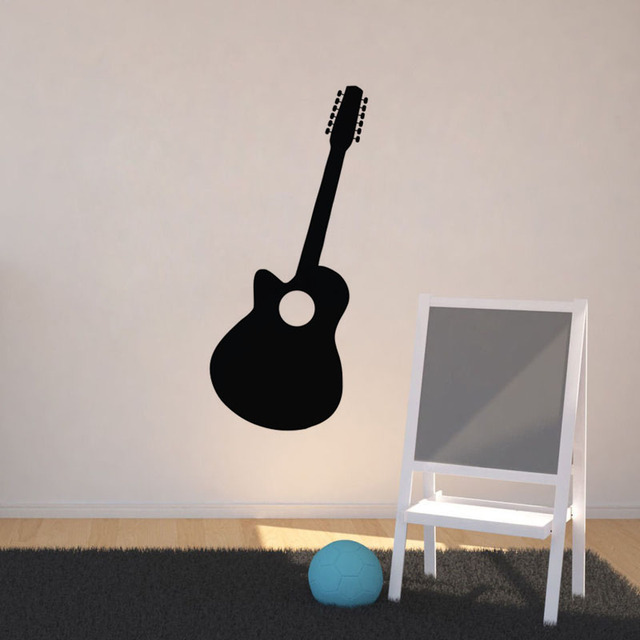 Simple Guitar Wall Sticker Home Decor Music Room Decorations Living Nursery Decals Vinyl