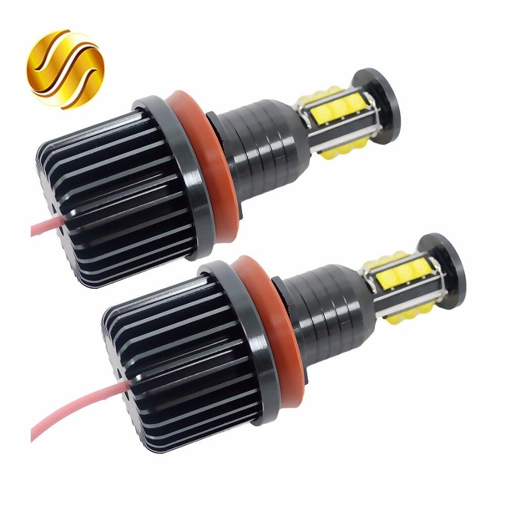 flytop 2 * 120W 240W LED Angel Eyes H8 Marker 7000K White for CREE LED Chips for BMW E92 E90 E91 E93 E81 E82 E87 E88 E63 E64