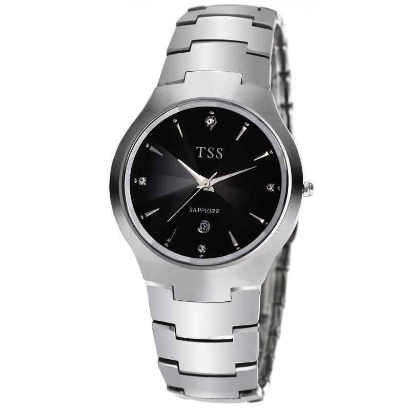 TSS lover couple series tungsten steel watch Korean fashion trend men 's automatic male watch waterproof men' s leisure business