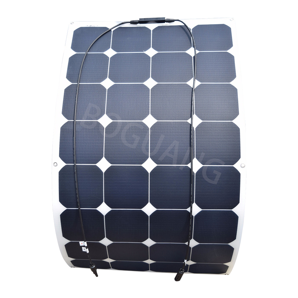 US $146 98 |18V 100W 100watt flexible ETFE efficient solar panel boat sun  power cell solar panels for 12V RV charging battery panou solar-in Solar