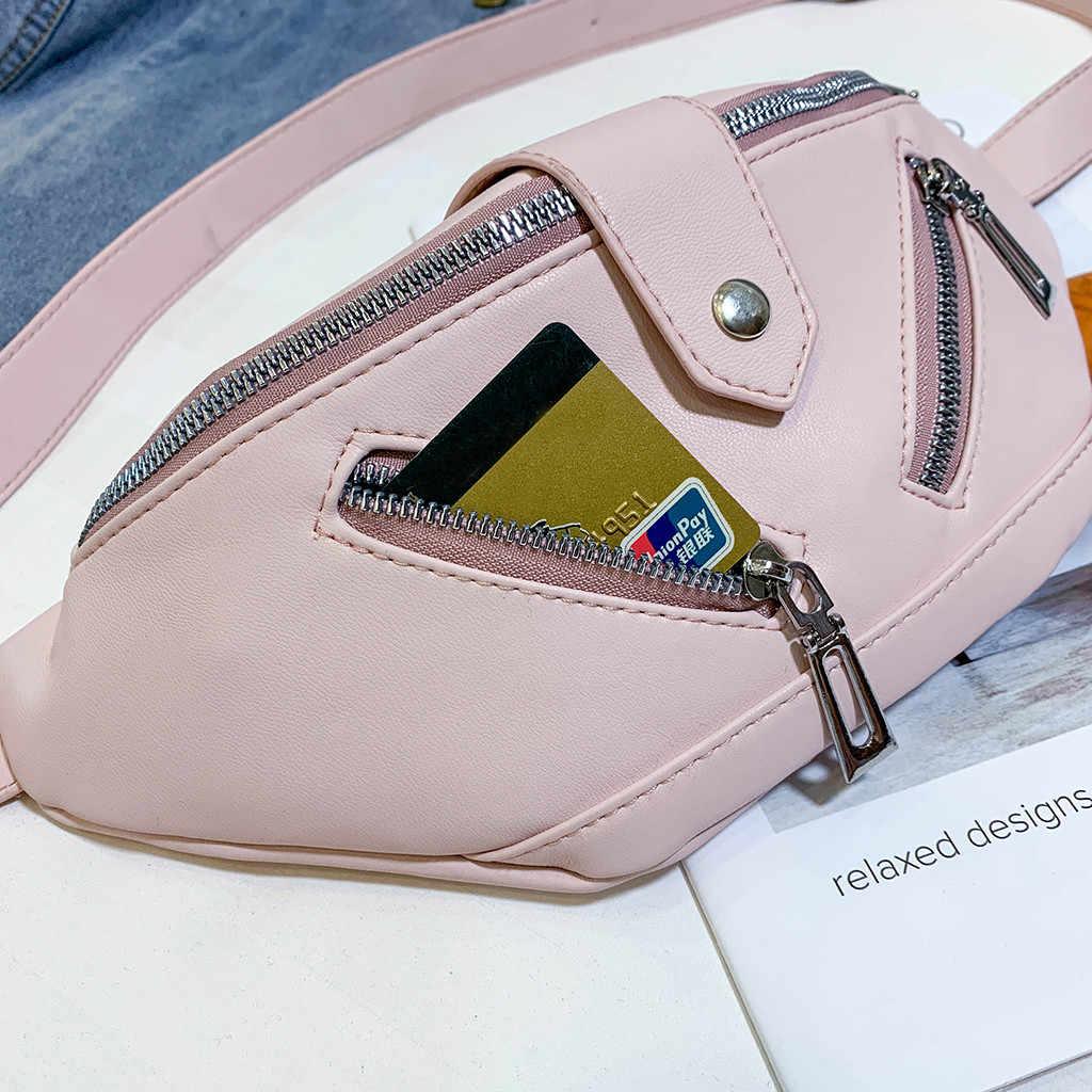 ウエストバッグ女性のファッションジョーカークロスボディポケットポケットショルダー胸バッグボルサ cintura feminina 嚢バナナベル cantasi
