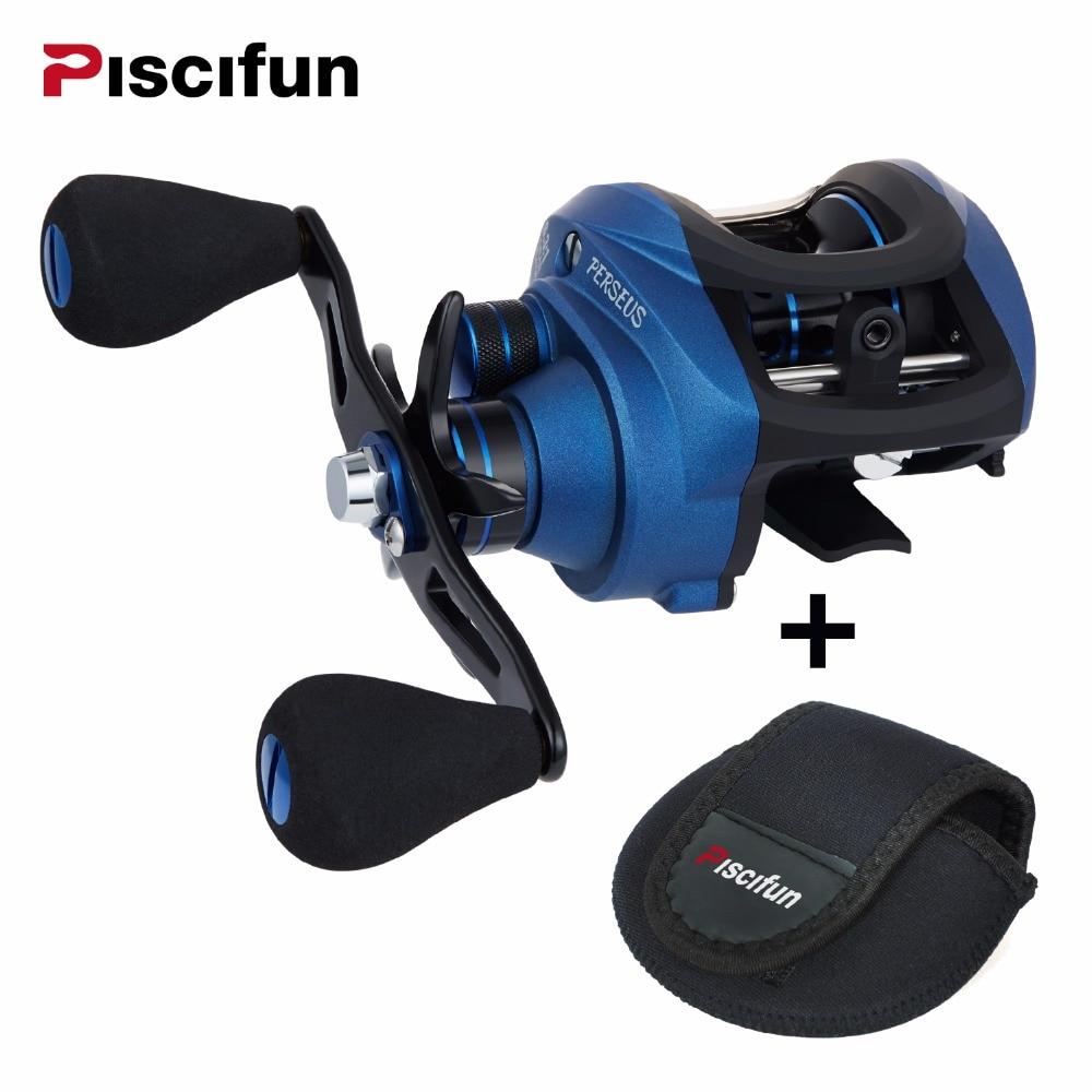 Piscifun Perseo Bobina di Pesca 8.4 kg Max Trascina freno Magnetico + freno centrifugo 6 Cuscinetti di pesca Luce Grafite bobina di Baitcasting