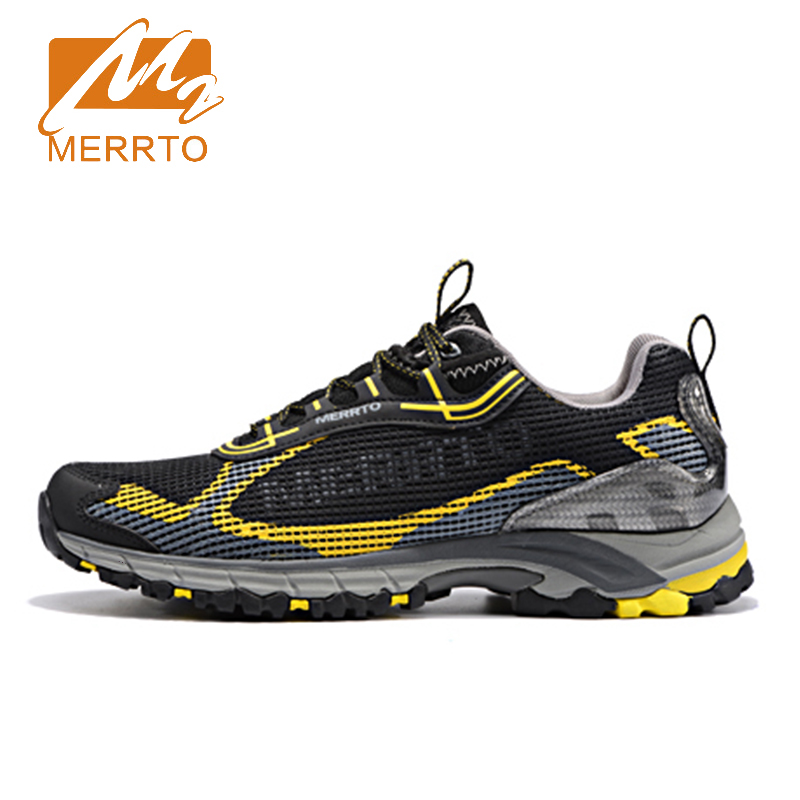 2018 Merrto Men Trail Running Shoes Trail Runner Sneakers Lightweight Breathable Mesh Sport Shoes For Male Free Shipping MT18595