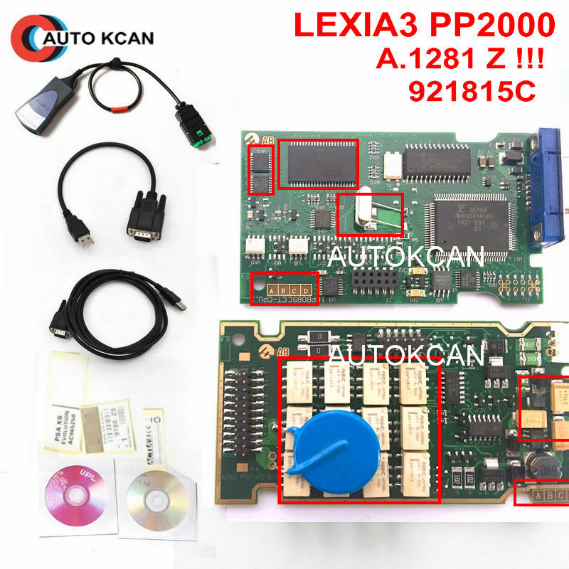 A 1281.Z stickers Free !!!! 921815C Firmware Lexia3 PP2000 V25 Lexia 3 V48 Diagbox 7.83 PP2000 Lexia 3  Diagnostic Tool-in Car Diagnostic Cables & Connectors from Automobiles & Motorcycles    1
