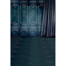 12ft Vinyl Cloth Digital Print Blue European Curtain Wall Photo Studio Backgrounds For Portrait Photography Backdrops CM 4147