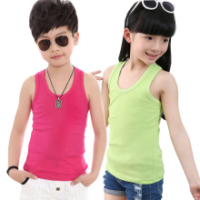 2017 Baby T Shirt Sleeveless Boys Unisex Girls Shirts Summer Cotton Children T-Shirt Kids Clothes Top Tee