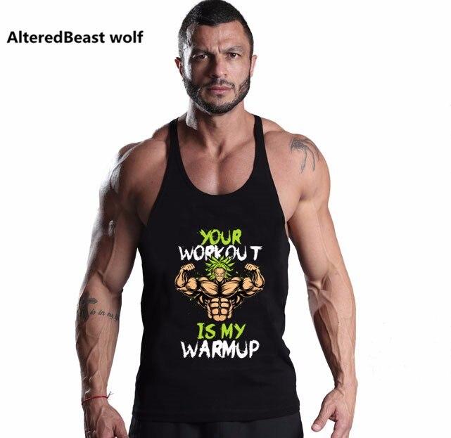 f7577de3595c Dragon ball Tank Top Männer Ärmelloses Shirt Bodybuilding Stringer tops  Fitness männer Baumwolle Im Sonderangebot Muscle Kleidung Workout Weste -  WLOG.ME