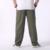 Hombre pantalones de carga suelta amarillo negro gris khaki mens generales algodón confort pantalones pantalón de cintura elástica ropa americana