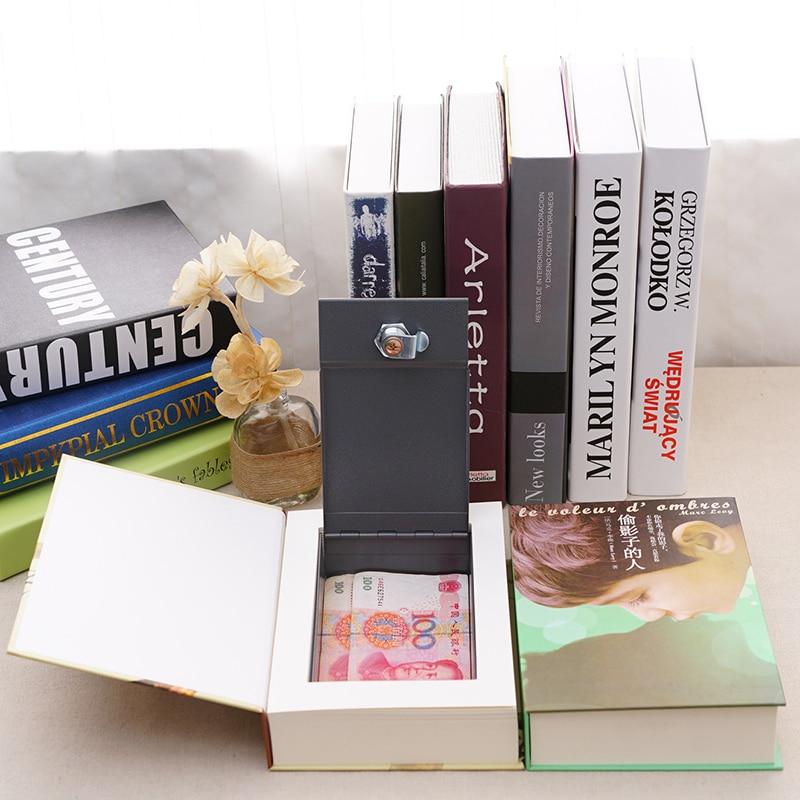 Secret Book Hidden Piggy Bank Security Safe Key Lock Cash Money Locker Box