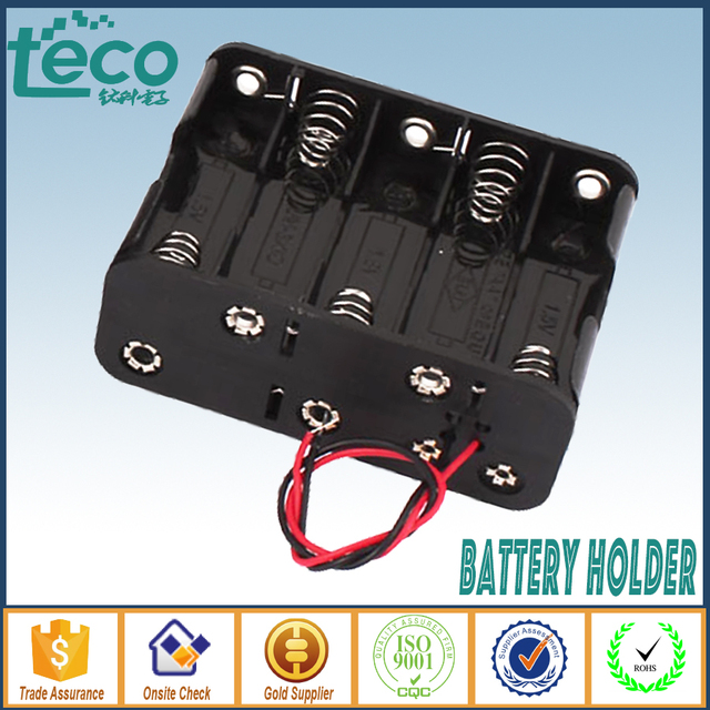 (1pcs/lot) 10 AA Battery Holder Battery Storage Box Case Double Side Wire
