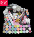 EM-94 Professional 42 Acrylic Liquid Powder Glitter Clipper Primer File Nail Art Tips Tool Brush Tools Set Kit new