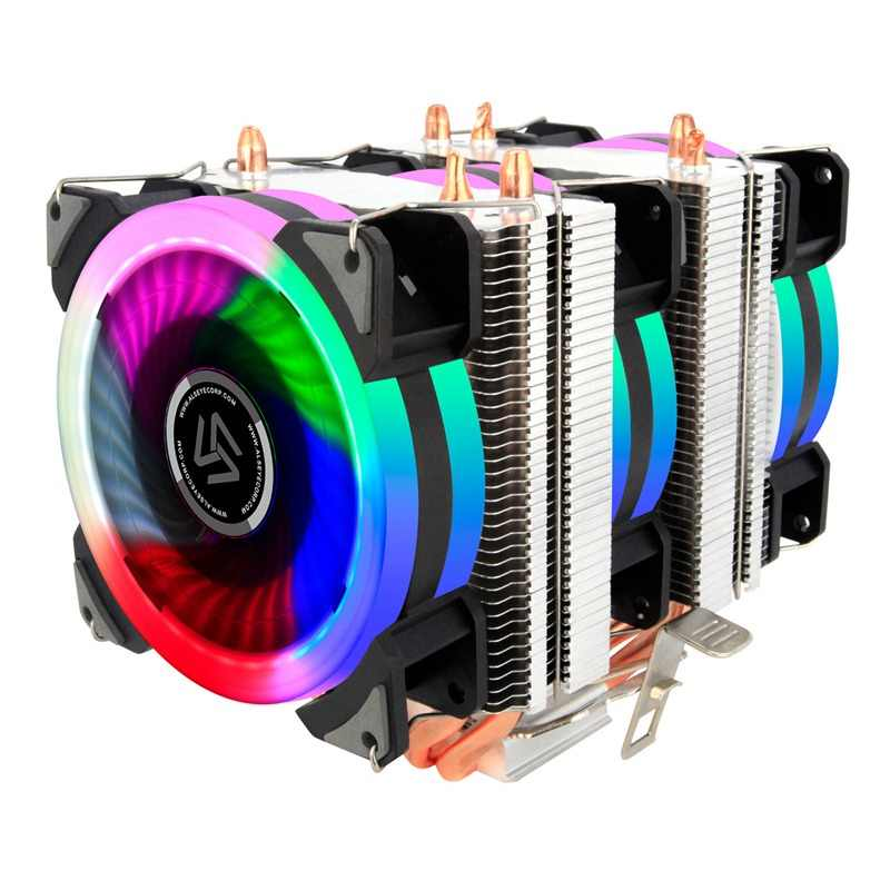 ALSEYE Dual tower CPU cooler 4 heat pipes 4pin 90mm RGB fan for computer processor cooling fan cooler for Intel and AMD