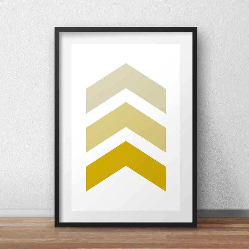 Chevron Canvas Wall Art, Printable Poster, Gold Chevron, Minimalist ...