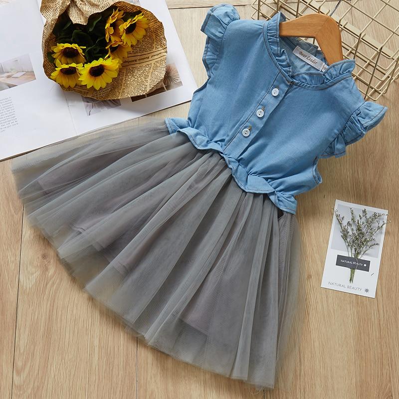 Menoea Children Clothing Suits 19 Autumn Fashion Style Girl Cowboy Long-Sleeve Mesh Dress Design For 3-8Y Kids Girls Sets 33