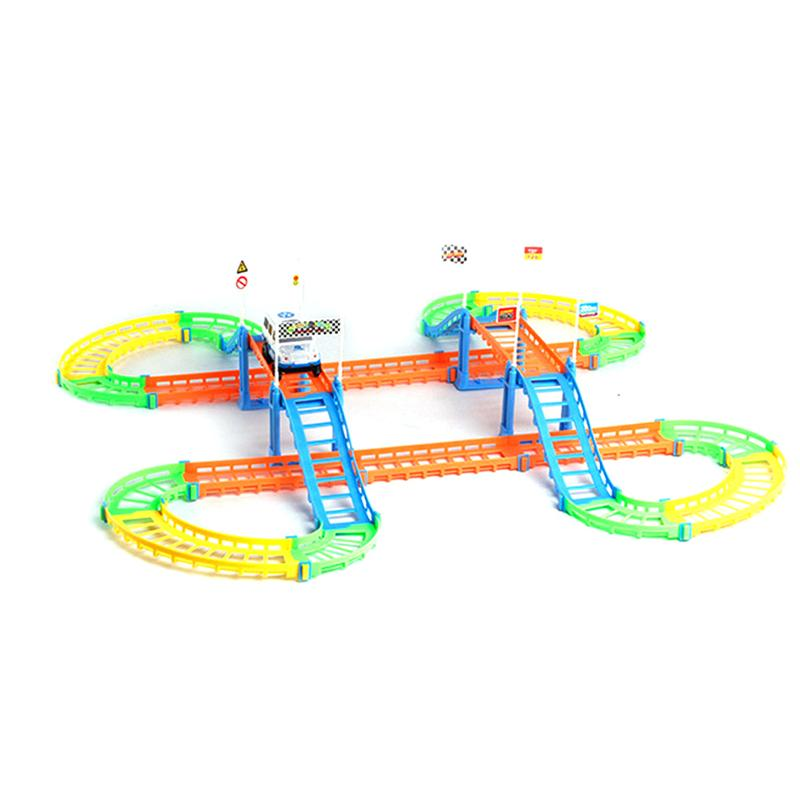 Electric Rail Car Toy Set Educational Kids DIY Assembly Toy Race Track And Electric Car For Education ChildrenS Birthday Gifts