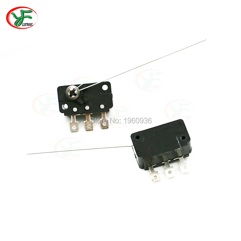 10 pcs/lot 3 Feet Micro Switch Needle Type Microswitch For Old Mechanical Coin Select Acceptor Arcade game accessories(China)