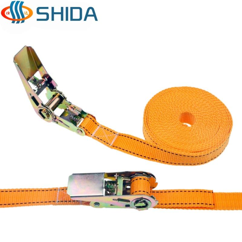 """ratchet ties SH 1/"""" x 15/' RATCHET TIE DOWN SECURITY STRAP 25mm x 4.5 Metre"""