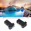 1 Pair VGA Extender Male/Female To RJ45 Female Network Cable Adapter Extra Switch Converter