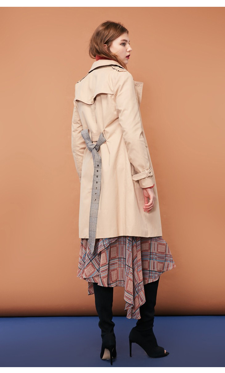 ONLY Women's Bi-tone Fabric Double-breasted Wind Coat 118336571 14