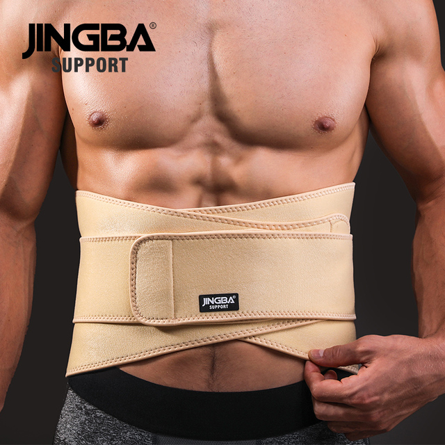 JINGBA SUPPORT mens waist trimmer Weight Loss slimming belt neoprene fitness belt back waist support Sweat belt waist trainer 1