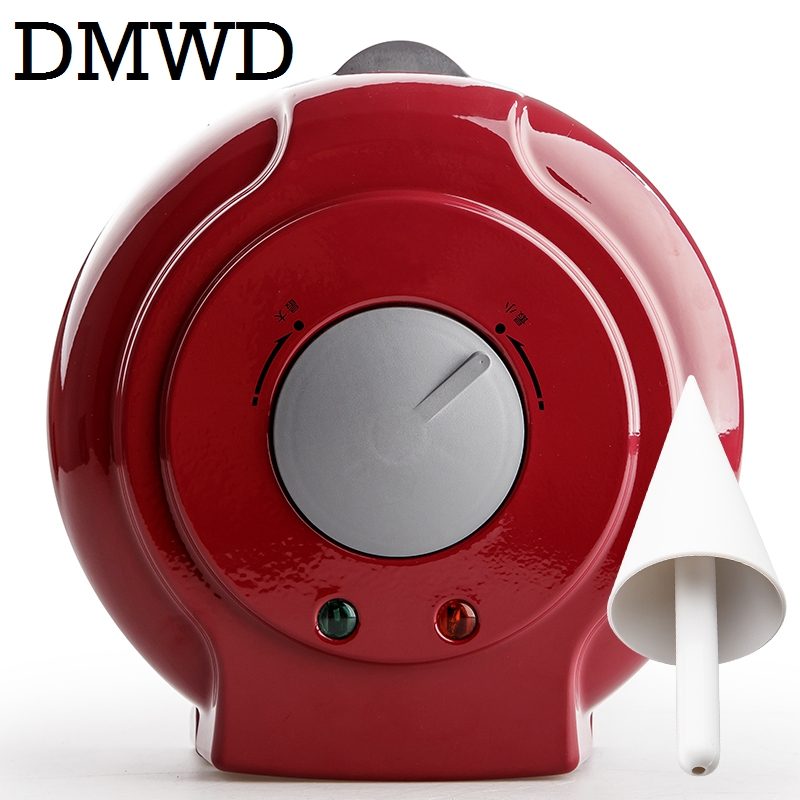 DMWD Electric Egg Roll Maker Crispy Omelet Mold crepe baking Pan Waffle Pancake Bakeware ice cream cone machine pie frying grill innovative owl shape silicone egg frying mould frying pancake mold breakfast mould creative kitchen supplies for diy present