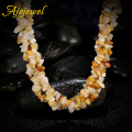 Ajojewel Yellow Natural Stone Necklaces Crystal Long Jewelry For Women Fashion Accessories