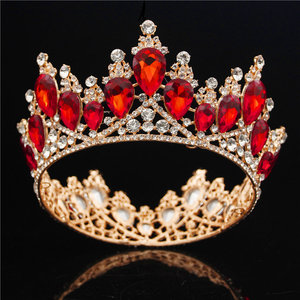 Image 1 - バロッククリスタル女王ティアラ王冠ウェディングパーティー結婚式の髪の宝石のティアラと王冠ヘッドバンドヘッドの装飾品