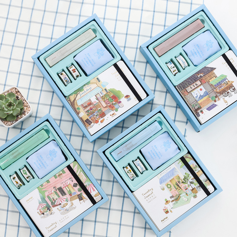 Kawaii A5 Diary Notebook Cute Planner Organizer Dokibook Set Personal Travel Journal Note Book+Pen+Tape Office School Stationery