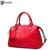 ZOOLER Genuine Leather Bag Luxury Women Handbags Pattern Embossed Designed Real Leather Ladies Tote Handbags OL