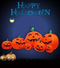 8 foot long halloween inflatable pumpkins yard decoration - Inflatable Halloween Yard Decorations